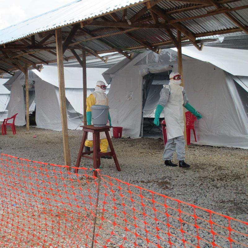 HUB tents - Ebola crisis 2014